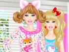 This weekend Barbie wants to throw a pajama party in her girly girl room, so sh