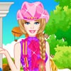 Dress up Barbie in a pretty outfit for her pony tale adventure on the green cou