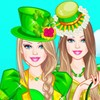 Help Barbie dress up for St Patrick's Day parad...