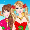 Dress up Barbie in beautiful strawberry princess dresses, tops and skirts, desi
