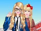 Accompany Barbie in her new college adventure in Barbie at College dress up gam