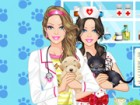 How about being the personal fashion assistant of Barbie Pet Doctor, girls? Whi