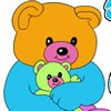 Want a new kind of educational coloring game? Play friendly bears coloring girl
