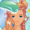 You can make Braids and Buns Hairstyles for this cute model. Wash and dry her h