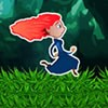 Merida, the Scottish princess is making a run for it in this Brave running gam