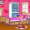 Play the butterfly bedroom decoration game and decorate this cute girl's bedroo