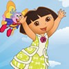 Dora wants to be a butterfly? Today is her lucky day. The tooth fairy gave to h