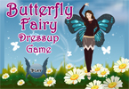 Colorful butterfly fairy dress up, a beautiful imaginary creature flies through