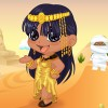 It is evening Time and Our cute Chibi Cleopatra to wants to go out and relax. S