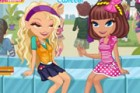This is a fun dress up game for girl. These two cute school girls are having a