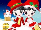For these two cute kids Christmas is a time of joy and they are so excited beca