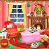 Clean up the room after the christmas eve in a minimum time delay.