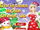 The Christmas bride looks so pretty, she wearing the beautiful dress and will g