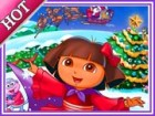 Dora Celebrating Christmas with Friends. Now Dora is very Happy and would like
