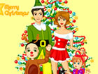 This family will celebrate christmas all together . You can dress up them for c