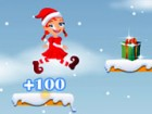 Help this girl jumped past her obstacles collect the packages and get to Santa.