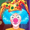 Clowns are so funny. This man is working as a clown at a circus and he has a sh