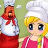 Jessie is very much bored of her cooking classe...