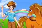 Cool Girl and Horse is a fun dress up game for girls. This cool girl has a cute