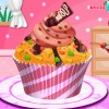 Decorate a big sweet cup cake by yourself and give liz some tips about your wor