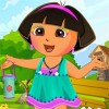Get ready to dress Dora. She is going out to pl...