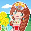 Anna is flower princess and she loves flowers! She has colorful hairs and she l