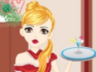 Make up Leena to be a cute maid. Choose hairstyles, dresses, stockings and shoe