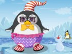 Frosty the baby penguin just loves ice skating, fishing and snowball fights, bu