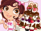 This cute baker is ready to make the cutest wedding cake ever! Help her make, b
