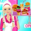 Barbie decided to open a hamburger cafe! Starting your own business is never ea