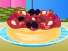 Bake this very delicious berry cheesecake for a...