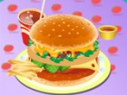 Make your own hamburger with toppings such as ketchup, mustard, mayonnaise, bea
