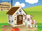 Choose your dog's house style and decorate it with a variety of roof colors, wa