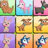 Play dogs memo game and find all matching dog pictures and get points.
