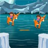 Join Dora in Adventure Jump Game. Help Dora to cross the river by moving the wo