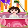 Before any exploration Dora takes a bath and plays with her toys. Give Dora a b