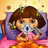 Dora was attacked by bees and now she has to se...