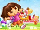 Deliver candies to Dora's home to clear each level. Wait to fill the Dora's tru