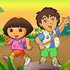 Play this alphabet games name Dora hide and seek, find all alphas to have fun g