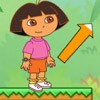 Help Dora jumping in the jungle, jump from on platform to other one, try to get
