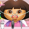 Dora has some nose problems and in this Dora doctor game you will be here to he