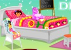 Our lovely Dora wants to redesign her bed room as she is fed up with the way he