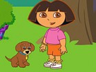 Dora loves Perrito, her cute little puppy and she has taught him many tricks. N