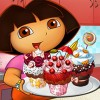 Dora is home alone trying to bake some tasty cakes for her mom. You must help D