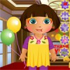 Our little cute Dora has arranged a party for a...