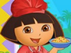 Dress up Dora as a charming cook and pick for her some kitchen accessories.