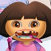 Dora the explorer got a few treats in Candyland and now her toothache has appea