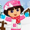 Our Naughty Dora  is playing in the snow .As a ...