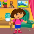 Can you help design a new look for the dora's room? Decorate the room with seve