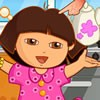 It's Monday morning and Dora needs to go to school today. Before going to sch